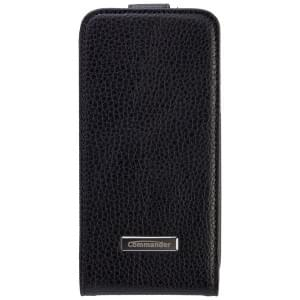 COMMANDER Tasche PREMIUM DeLuxe Vertikal Case für Samsung Galaxy S4 Mini - Leather Black