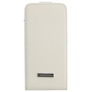 COMMANDER Tasche PREMIUM DeLuxe Vertikal Case für Samsung Galaxy S4 Mini - Leather White