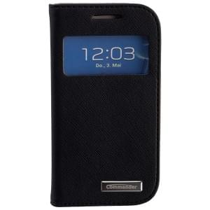 COMMANDER Premium Tasche WINDOW für Samsung Galaxy S3 Mini - Cross Leather Black