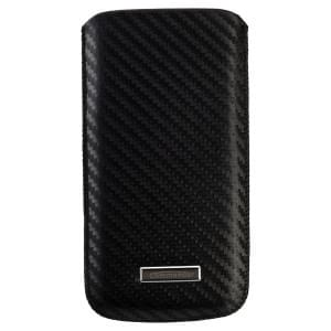 COMMANDER Premium Handytasche MEN & BOYZ M - für Apple iPhone 4 / 4S / 5 / 5C / 5S - Carbon Leather Black