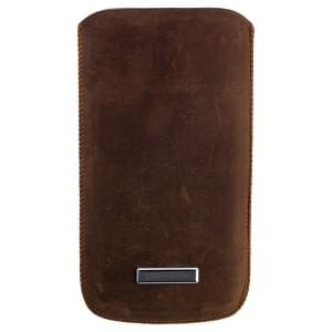 COMMANDER Tasche MEN & BOYZ M - für Apple iPhone 4 / 4S / 5 / 5C / 5S - Vintage Leather Brown
