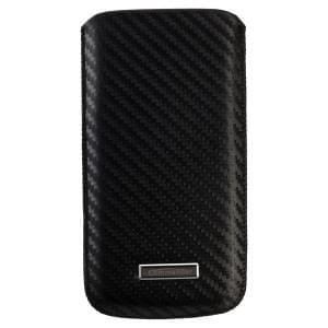COMMANDER Premium Handytasche MEN & BOYZ XXL Carbon Leather Black