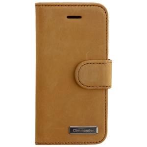 COMMANDER Premium Handytasche BOOK CASE VINTAGE für Apple iPhone 5 / 5S / SE