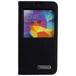 COMMANDER Tasche WINDOW für Samsung Galaxy S5 - Cross Leather Black