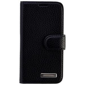 COMMANDER Premium Tasche BOOK CASE ELITE für Samsung Galaxy S5 Mini - Leather Black