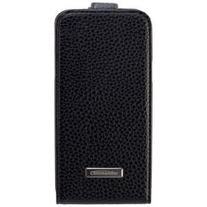 COMMANDER Premium Tasche DeLuxe Vertikal Case für Samsung Galaxy S5 Mini - Leather Black