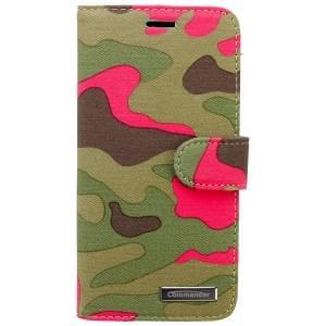 COMMANDER Premium Tasche BOOK CASE ELITE für Apple iPhone 6 / 6S - Camouflage Pink