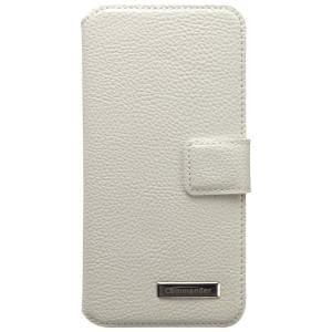 COMMANDER Premium Handytasche BOOK CASE für Apple iPhone 6 / 6S - Leather White