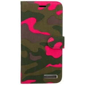 COMMANDER Premium Tasche BOOK CASE ELITE für Apple iPhone 6 Plus / 6S Plus - Camouflage Pink