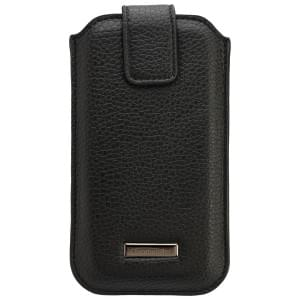 COMMANDER Premium Tasche ROMA M4.0 - Leather Black - z.B. für Apple iPhone 4 / 4S / 5 / 5C / 5S