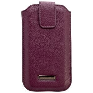 COMMANDER Premium Tasche ROMA M4.0 - Leather Purple - z.B. für Apple iPhone 4 / 4S / 5 / 5C / 5S