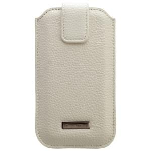 COMMANDER Premium Tasche ROMA XXL5.7 - Leather White - z.B. für Galaxy Note 2/Note 3 / iPhone 6 Plus/6S Plus