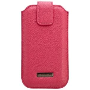 COMMANDER Premium Tasche ROMA XXL5.7 - Leather Pink - z.B. für Galaxy Note 2/Note 3 / iPhone 6 Plus/6S Plus