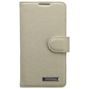 COMMANDER Premium Tasche BOOK CASE ELITE für Sony Xperia Z3 Compact - Leather White