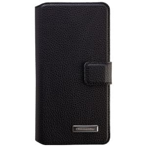 COMMANDER Premium Tasche BOOK CASE ELITE UNI DeLuxe XXL5.2 - Leather Black