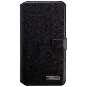 COMMANDER Premium Tasche BOOK CASE ELITE UNI DeLuxe XXL5.7 - Leather Black