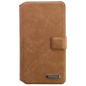 COMMANDER Premium Tasche BOOK CASE ELITE UNI DeLuxe XXL5.7 - Nubuk Brown