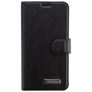 COMMANDER Premium Tasche BOOK CASE ELITE für Samsung Galaxy S6 - Leather Black