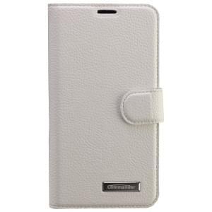 COMMANDER Premium Tasche BOOK CASE ELITE für Samsung Galaxy S6 - Leather White