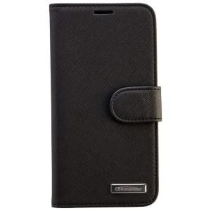 COMMANDER Premium Tasche BOOK CASE ELITE für Samsung Galaxy S6 - Cross Leather Black