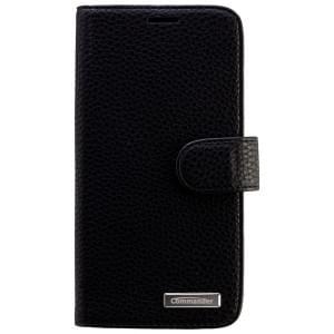COMMANDER Premium Tasche BOOK CASE ELITE für Samsung Galaxy S6 Edge - Leather Black