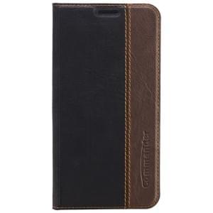 COMMANDER Premium Tasche BOOK CASE für Samsung Galaxy S6 - Gentle Black