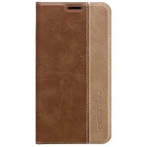 COMMANDER Premium Tasche BOOK CASE für Samsung Galaxy S6 - Gentle Brown