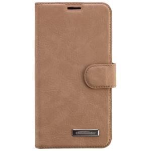COMMANDER Premium Tasche BOOK CASE für Samsung Galaxy S6 - Nubuk Leather Brown