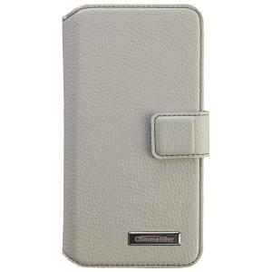 COMMANDER Premium Tasche BOOK CASE ELITE UNI DeLuxe M4.9 - Leather White
