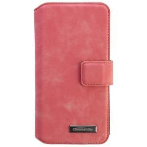 COMMANDER Premium Tasche BOOK CASE ELITE UNI DeLuxe M4.9 - Nubuk Pink