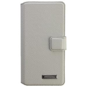 COMMANDER Premium Tasche BOOK CASE ELITE UNI DeLuxe XXL5.2 - Leather White