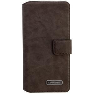 COMMANDER Premium Tasche BOOK CASE ELITE UNI DeLuxe XXL5.2 - Nubuk Gray