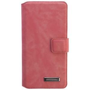 COMMANDER Premium Tasche BOOK CASE ELITE UNI DeLuxe XXL5.2 - Nubuk Pink