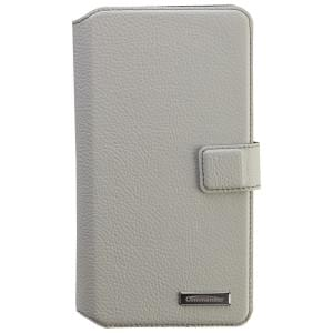 COMMANDER Premium Tasche BOOK CASE ELITE UNI DeLuxe XXL5.7 - Leather White