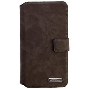 COMMANDER Premium Tasche BOOK CASE ELITE UNI DeLuxe XXL5.7 - Nubuk Gray