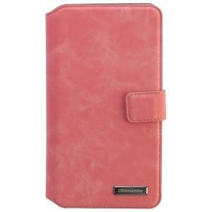COMMANDER Premium Tasche BOOK CASE ELITE UNI DeLuxe XXL5.7 - Nubuk Pink