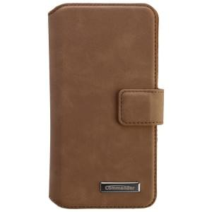 COMMANDER Premium Tasche BOOK CASE ELITE UNI DeLuxe M4.9 - Nubuk Brown