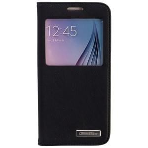COMMANDER Premium Tasche WINDOW für Samsung Galaxy S6 - Cross Leather Black