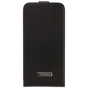 COMMANDER Premium Tasche DeLuxe Vertikal Case für Samsung Galaxy S6 - Leather Black
