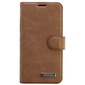 COMMANDER Premium Tasche BOOK CASE für Samsung Galaxy S6 Edge - Nubuk Leather Brown