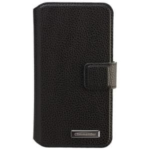 COMMANDER Premium Tasche BOOK CASE ELITE UNI DeLuxe M4.3 - Leather Black