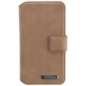 COMMANDER Premium Tasche BOOK CASE ELITE UNI DeLuxe M4.3 - Nubuk Brown