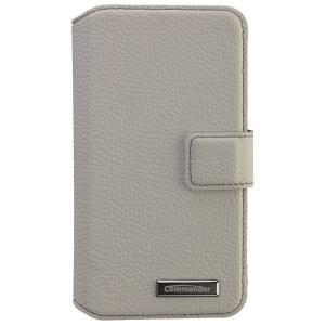 COMMANDER Premium Tasche BOOK CASE ELITE UNI DeLuxe M4.3 - Leather White