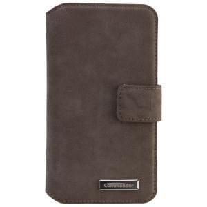 COMMANDER Premium Tasche BOOK CASE ELITE UNI DeLuxe M4.3 - Nubuk Gray