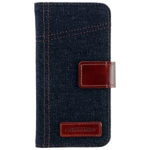 COMMANDER Premium Tasche BOOK CASE ELITE Jeans für Samsung Galaxy S6 Edge