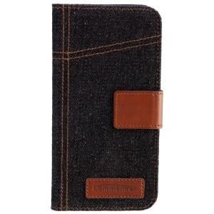 COMMANDER Premium Handytasche BOOK CASE ELITE Jeans für Apple iPhone 6 / 6S