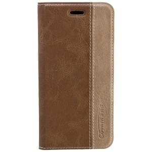 COMMANDER Premium Handytasche BOOK CASE für Apple iPhone 6 - Gentle Brown