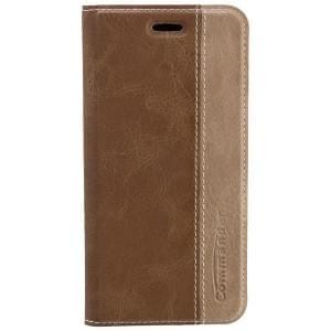 COMMANDER Premium Handytasche BOOK CASE für Apple iPhone 6 - Gentle Brown