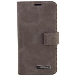 COMMANDER Premium Tasche Book & Cover für Samsung Galaxy S6 - Nubuk Gray