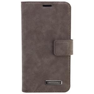 COMMANDER Premium Tasche Book & Cover für Samsung Galaxy S6 Edge - Nubuk Gray
